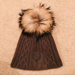 Accessories - Cashmere and Fur Hat